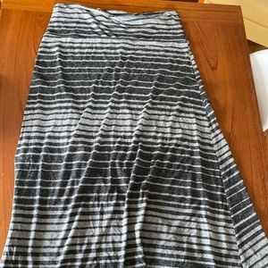 Striped grey Mossimo Maxi skirt